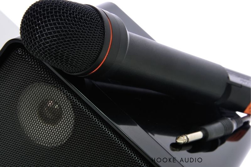 speaker for a wireless microphone