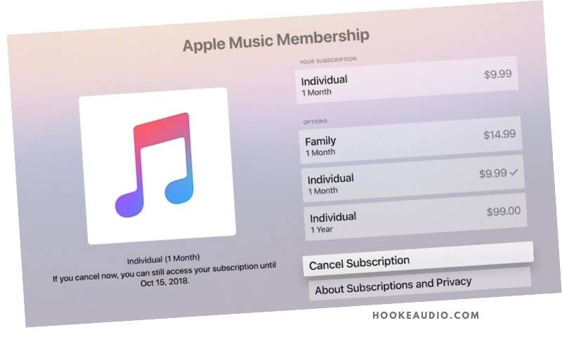 Apple Music Pricing Options