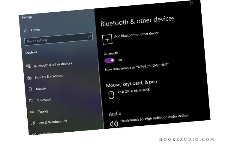 Click Bluetooth & Other Devices