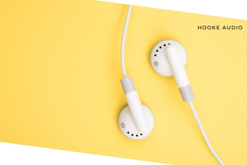 JLab earbuds equipped with a microphone