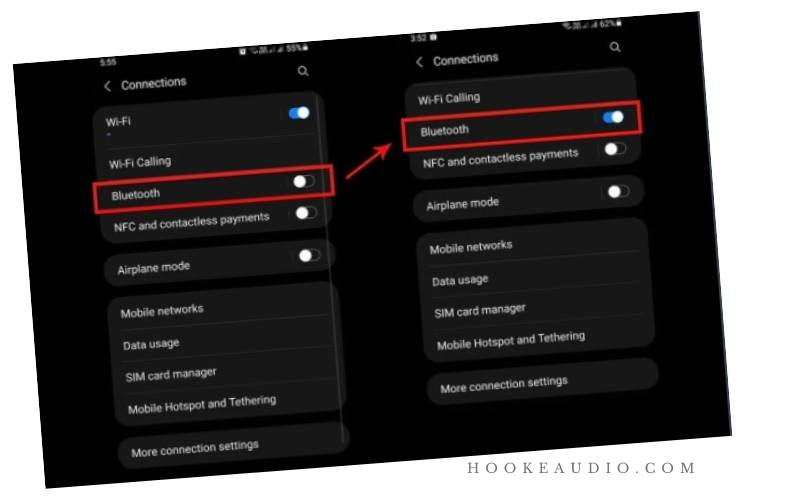 To enable pairing mode, open the Apple charging Case.