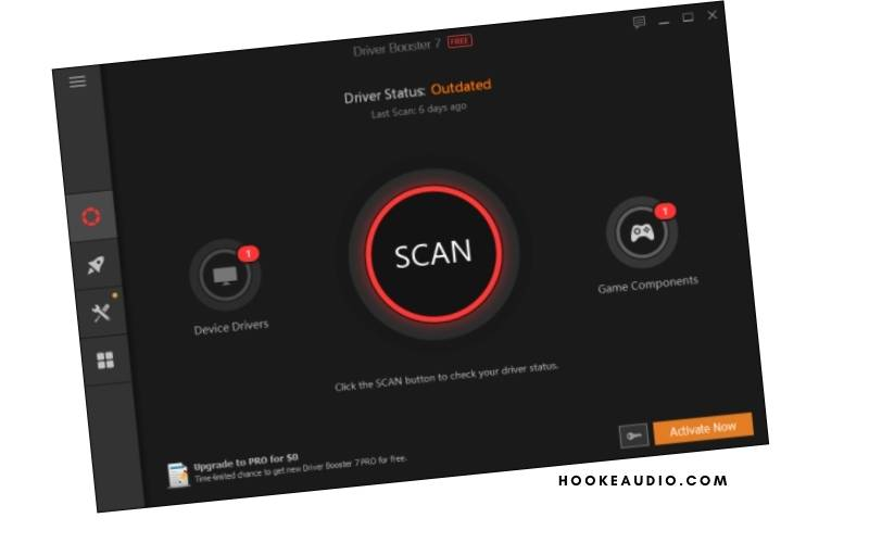 a button that says SCAN